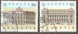 Switzerland: Europa-CEPT, Full Set Of 2 Used Stamps, 1990, Mi#1415-1416(2) - 1990