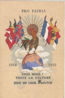 CPA Militaire Fantaisie Humour Pro Patria Chez Nous ! Toute La Culture Rien De Leur Kultur 1914-1916 - Humour