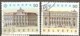 Switzerland: Europa-CEPT, Full Set Of 2 Used Stamps, 1990, Mi#1415-1416 - 1990