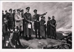 """III. Reich, Propaganda Karte, """"  Der Führer Im Kampfgelände """" HDK - Weltkrieg 1939-45"""
