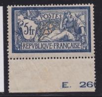 FRANCE - CLASSIQUES : N°123. Cote 100€. Neuf. BDF. Charnière. - 1900-27 Merson