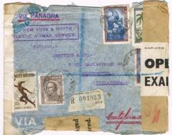 34447. Carta Aerea Certificada CENSURA, Censor Buenos Aires (Argentina) 1942. VIA PANAGRA. Damaged - Argentinien