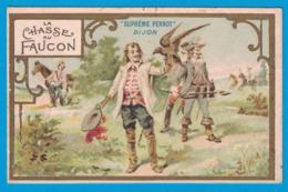 IMAGE BISCUITS PERNOT USINES A DIJON A GENEVE MAISON A PARIS / IMP H.LAAS PECAUD PARIS / LA CHASSE AU FAUCON - Pernot