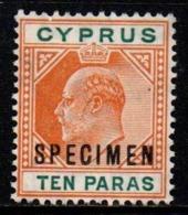 """R396.-. CYPRUS - 1909 - SC#: 61- MNG - """"SPECIMEN"""" - KING GEORGE V - SCV: US$ ??.00 ++ - Cipro (...-1960)"""