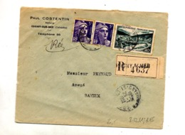 Lettre Recommandée Isigny Sur Meuse Gandon - Marcophilie (Lettres)