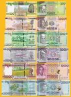 Guinea Set 500, 1000, 2000, 5000, 10000, 20000 Francs 2015-2018 UNC Banknotes - Guinee