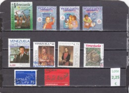 Venezuela  -  Lote  12  Sellos Diferentes  - 9/11/5091 - Venezuela
