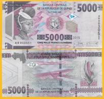 Guinea 5000 Francs P-49 2015 UNC Banknote - Guinee