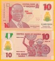 Nigeria 10 Naira P-39 2019 UNC Polymer Banknote - Nigeria