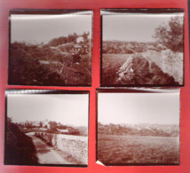 07 ARDECHE Lot De 4 Photos D' AUBENAS En 1905 Format 9x8 Cm. - Places