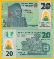 Nigeria 20 Naira P-34 2018 UNC Polymer Banknote - Nigeria