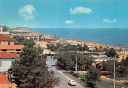 Cartolina Tortoreto Lido Lungomare E Spiaggia 1970 Distributore Agip - Teramo