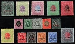 "R854.-. EAST AFRICA AND UGANDA PROTECTORATE - 1912 - SC#: 40-55 - MNG - ""SPECIMEN"" KING GEORGE V - SCV: US$ ??.00 ++ - Kenya, Uganda & Tanganyika"