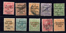 Irlande Ob Lot De 10 Timbres - 1922 Gouvernement Provisoire