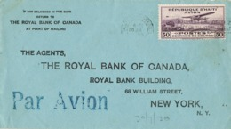 34450. Carta Aerea PORT Au PRINCE (Haiti) 1939. Royal Bank Of Canada - Haití