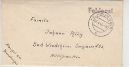 Feldpostbrief Vom Arb.Kdo. 4093 Zwodau Bei FALKENAU 7.4.44 / Mangel An Dienstsiegel! - Briefe U. Dokumente