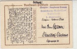 Feldpostbrief Vom Landsturm-Bat. Düsseldorf / Belgien Postamt DIEST 14.4.16 - Briefe U. Dokumente