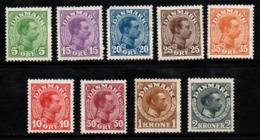 R881.-. DENMARK - 1913-1928 - SC#: 97 // 133 - MNG - CHRISTIAN X - SCV: US$ 174.00 ++ - 1913-47 (Christian X)
