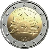 """LETONIA  2€ 2.019  2019  BIMETÁLICA   """"EL SOL NACIENTE""""  SC/UNC    T-DL-12.315 - Letland"""