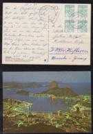 Brazil Brasil 1985 Picture Postcard RIO PRACA MAUA To KAUGBEUREN Germany 4x 200C$ Mamona Fruit - Brazilië