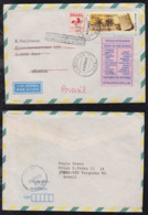 Brazil Brasil 1992 Airmail Cover VARGINHA To GENT Belgium Returned To Sender - Brazilië