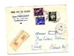 Lettre Recommandée Courbevoie Sur Mercure Petain - Marcophilie (Lettres)