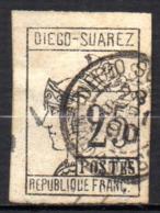 Col17  Colonie Diego Suarez  N° 9 Oblitéré  Cote 135,00€ - Diego-suarez (1890-1898)