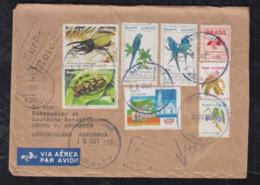Brazil Brasil 1993 Airmail Cover BRASILIA Radio Center To Antarctic Station Germany Returned To Sender - Brazilië