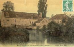 21 Montbard, Le Moulin De Laplie Sur La Brenne, Carte Toilée Couleur - Montbard
