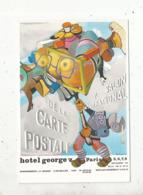 Cp, Bourses & Salons De Collections, 75,hotel George V , Paris , 7 E Salon De La Carte Postale ,invitation, 2 Scans - Borse E Saloni Del Collezionismo