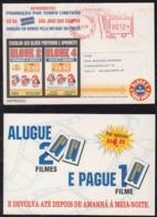 Brazil Brasil 1997 Meter Advertising Postcard SAO PAULO To SAO JOSE DOS CAMPOS Blockbuster Video - Brazilië