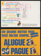 Brazil Brasil 1997 Meter DH Advertising Postcard SAO PAULO To SAO JOSE DOS CAMPOS Blockbuster Video - Brazilië