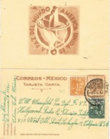 34453. Entero Postal MANZANILLO (Colima) Mexico 1947. Slogan America Unida Por La Paz - Messico