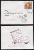 Brazil Brasil 1999 Cover VARGINHA To LONDRINA Returned To Sender Christmas Stamp - Brazilië
