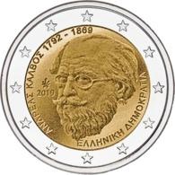 """GRECIA  2€ 2.019  2019  BIMETÁLICA   """"150th Anniversary Ot The Death Of Andreas Kalvos""""  SC/UNC    T-DL-12.316 - Greece"""