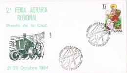 34454. Carta PUERTO De La CRUZ (Canarias) 1984. Feria Agraria - 1981-90 Cartas