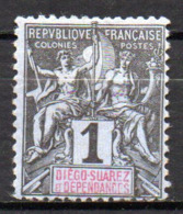 Col17  Colonie Diego Suarez  N° 25 Neuf (X) No Gum  Cote 2,50€ - Diégo-Suarez (1890-1898)