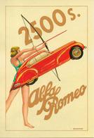 654 Alfa Romeo 2500 A. Brovarone Pin Up - Automobile - F1
