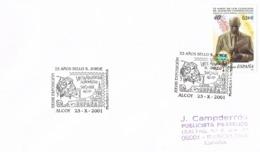 34455. Carta Exposicion ALCOY (Alicante) 2001. Sant Jorge Y El Dragon. Sant Jordi - 1931-Hoy: 2ª República - ... Juan Carlos I