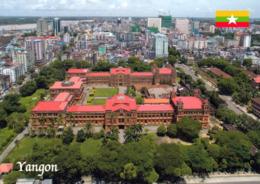 1 AK Myanmar (Burma) * Blick Auf Die Größte Stadt Des Landes Auf Rangun (offiziell Yangon) - Luftbildaufnahme * - Myanmar (Birma)