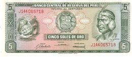 Peru P.92 5 Soles 1968 Unc - Pérou