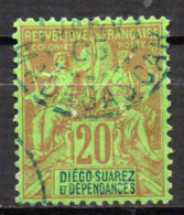 Col17  Colonie Diego Suarez  N° 31 Oblitéré  Cote 20,00€ - Diego-suarez (1890-1898)