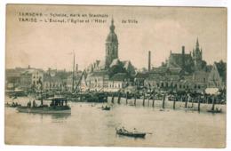 Temse, Temsche, Schelde, Kerk En Stadhuis (pk63095) - Temse
