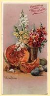 Trade Card. Chromo Carte Postale Aiguebelle. Bouquet De Fleurs Et Fruits. - Aiguebelle