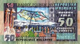 Madagascar 1974 50 Francs F   Voir Explications   Assez Rare - Madagascar