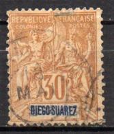 Col17  Colonie Diego Suarez  N° 46 Oblitéré  Cote  8,00€ - Diego-suarez (1890-1898)