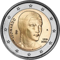 "ITALIA  2€ 2.019  2019  BIMETÁLICA   ""LEONARDO DA VINCI""  SC/UNC    T-DL-12.319 - Italie"