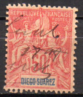Col17  Colonie Diego Suarez  N° 48 Oblitéré  Manuscrite Cote  18,00€ - Diego-suarez (1890-1898)