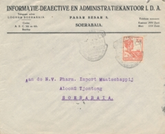 Nederlands Indië - 1926 - Propagandastempel Jaarbeurs Bandoeng Op Zakenbrief Lokaal Soerabaja - Netherlands Indies