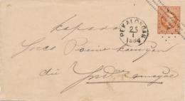 Nederlands Indië - 1884 - 10 Cent Willem III, Envelop G5 Van Rond- & Puntstempel PEKALONGAN Naar Indramaijoe - Indie Olandesi